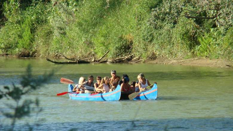 Canoeing in the Maremma