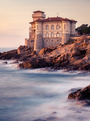 Castello del Boccale at sunset