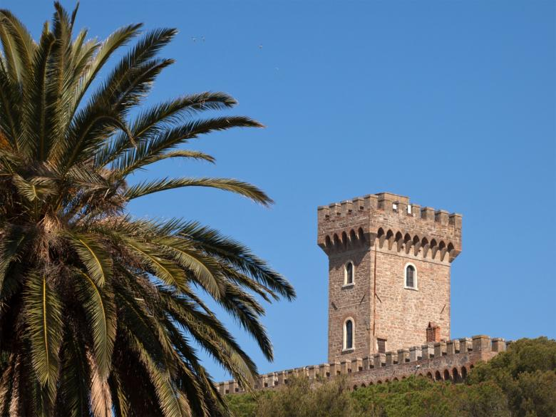 The tower of Castiglioncello's Pasquini Castle