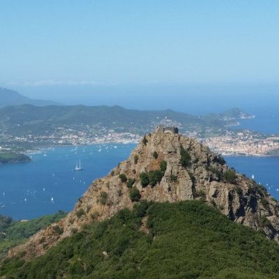 Volterraio Castle plus a glimpse of Elba Island