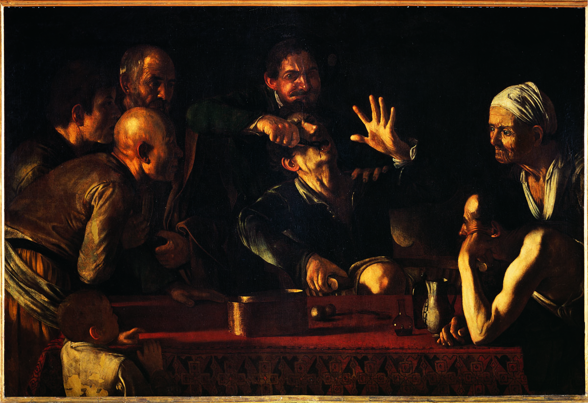 Caravaggio 39 s cavadenti the tooth puller ugh visit for Famous artist in baroque period
