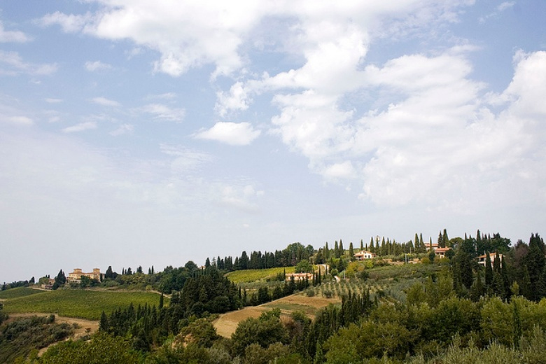 A view of the Chianti countryside