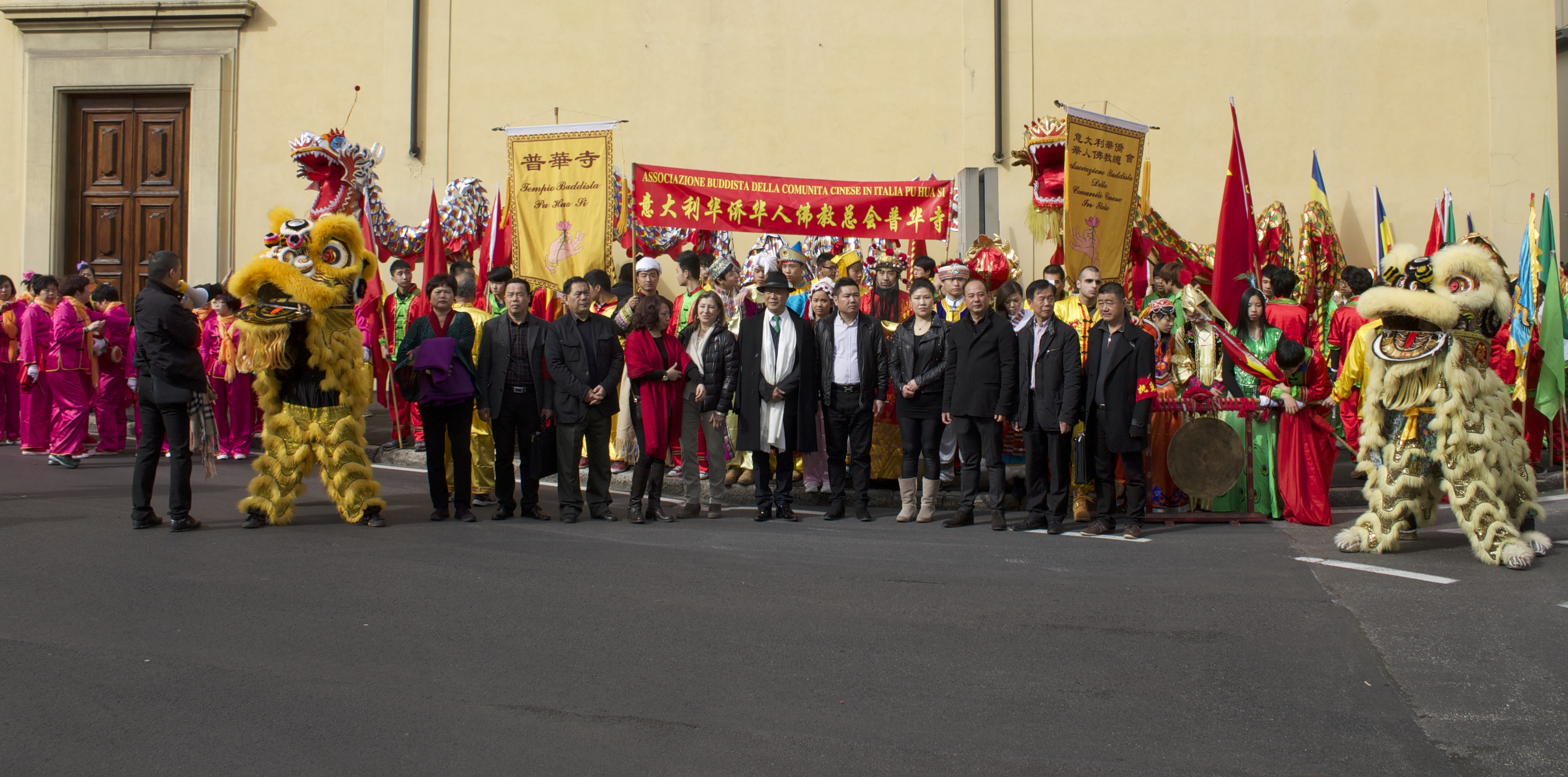 The group of the Chinese New Year in Prato