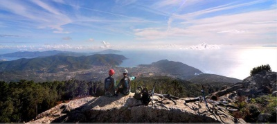 The peaks of Elba Island