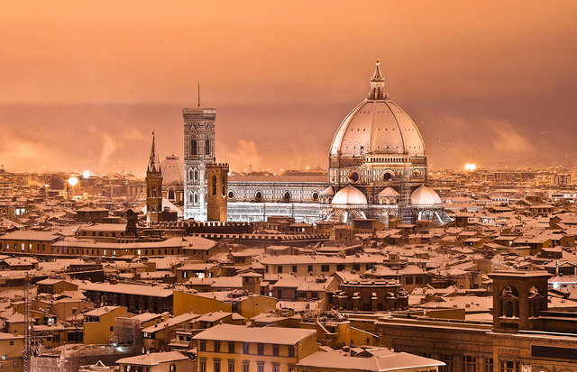 Snow in Florence Guido Andreoni on Flickr http://ow.ly/g1ZtY