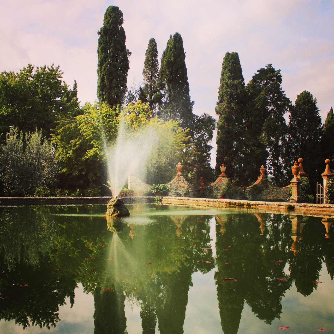 The fountain. Castello di Verrazzano
