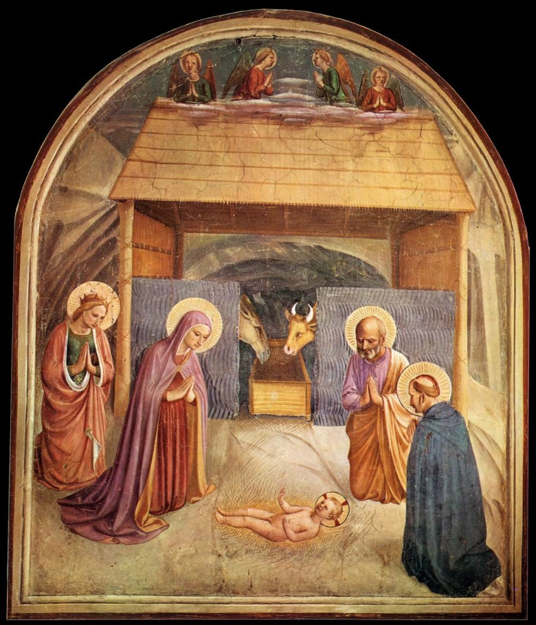 Fra Angelico, Nativity, Fresco in San Marco (cell #5)