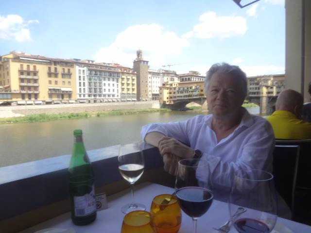 Gilles Pudlowski in Florence