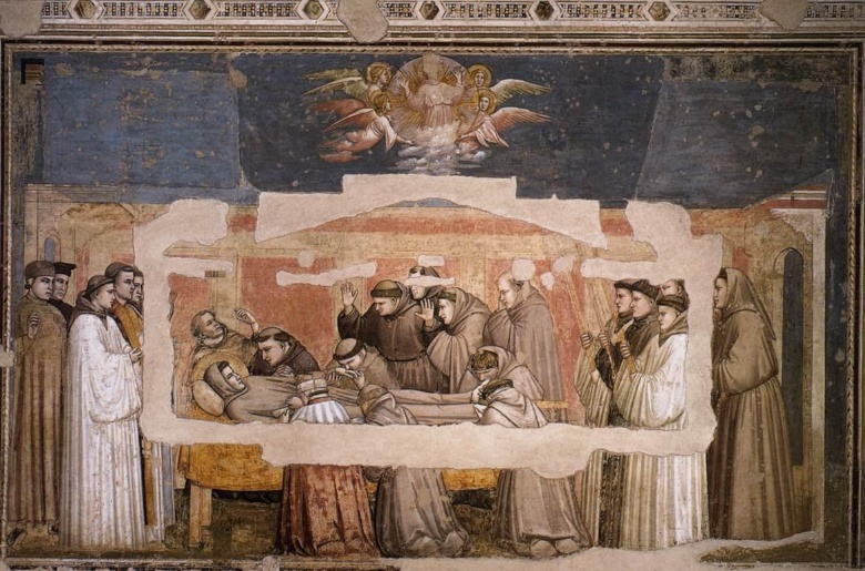 Giotto, Death of St. Francis, Santa Croce, Florence