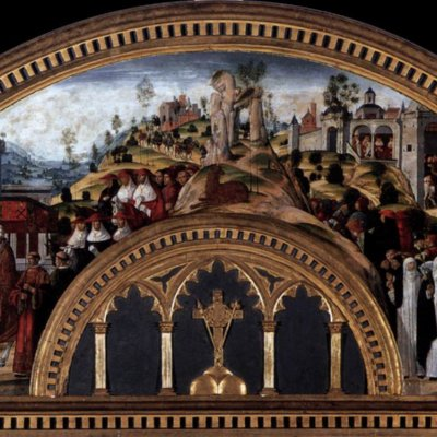 Girolamo Di Benvenuto - Gregory XI Returns to Rome from Avignon