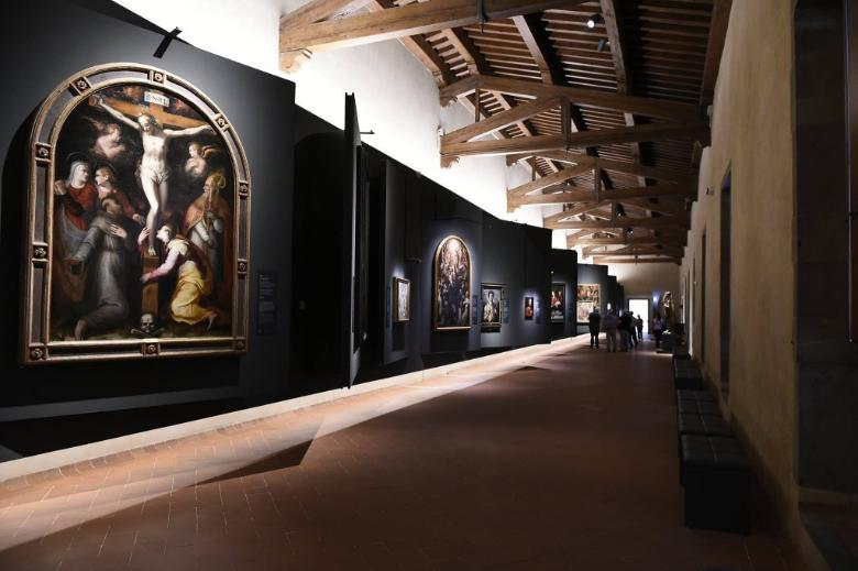 The art section of Innocenti Museum