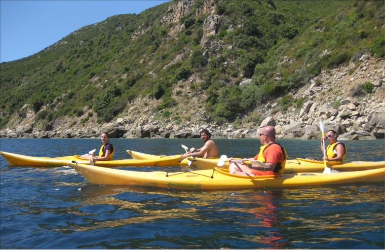 kayaking around Elba Island