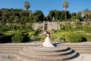 A wedding in the gardens