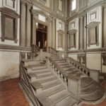 Laurentian library staircase by Michelangelo