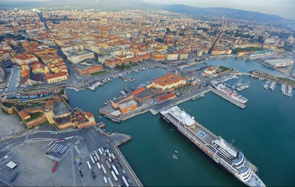 The harbor of Livorno