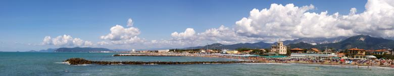 Panorama of the Apuan Riviera