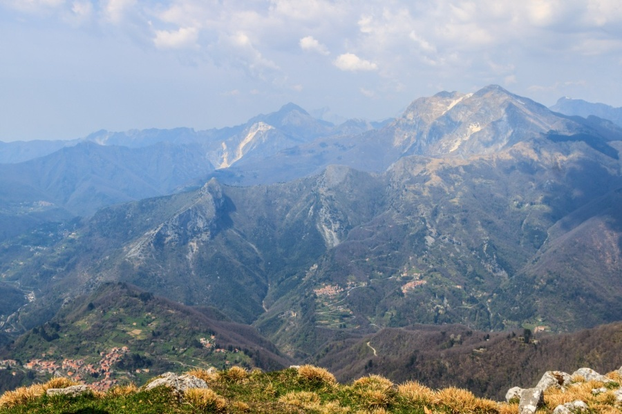 Panorama from the top of Monte Matanna