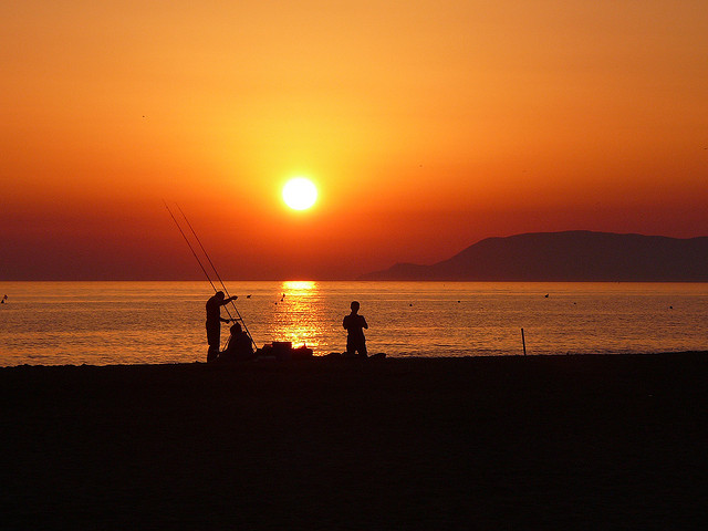 Fishing at sunset in Maremma [Photo Credits: marcantonio severgnini http://ow.ly/hc229]