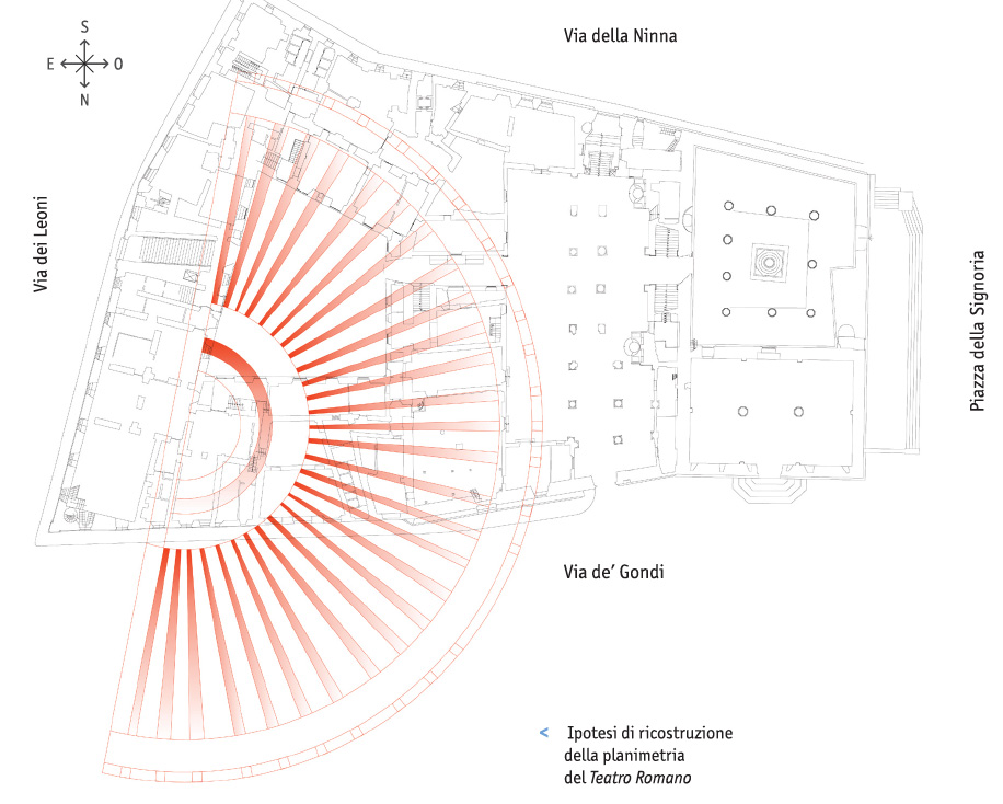 Hypothetical reconstruction of the Roman theater