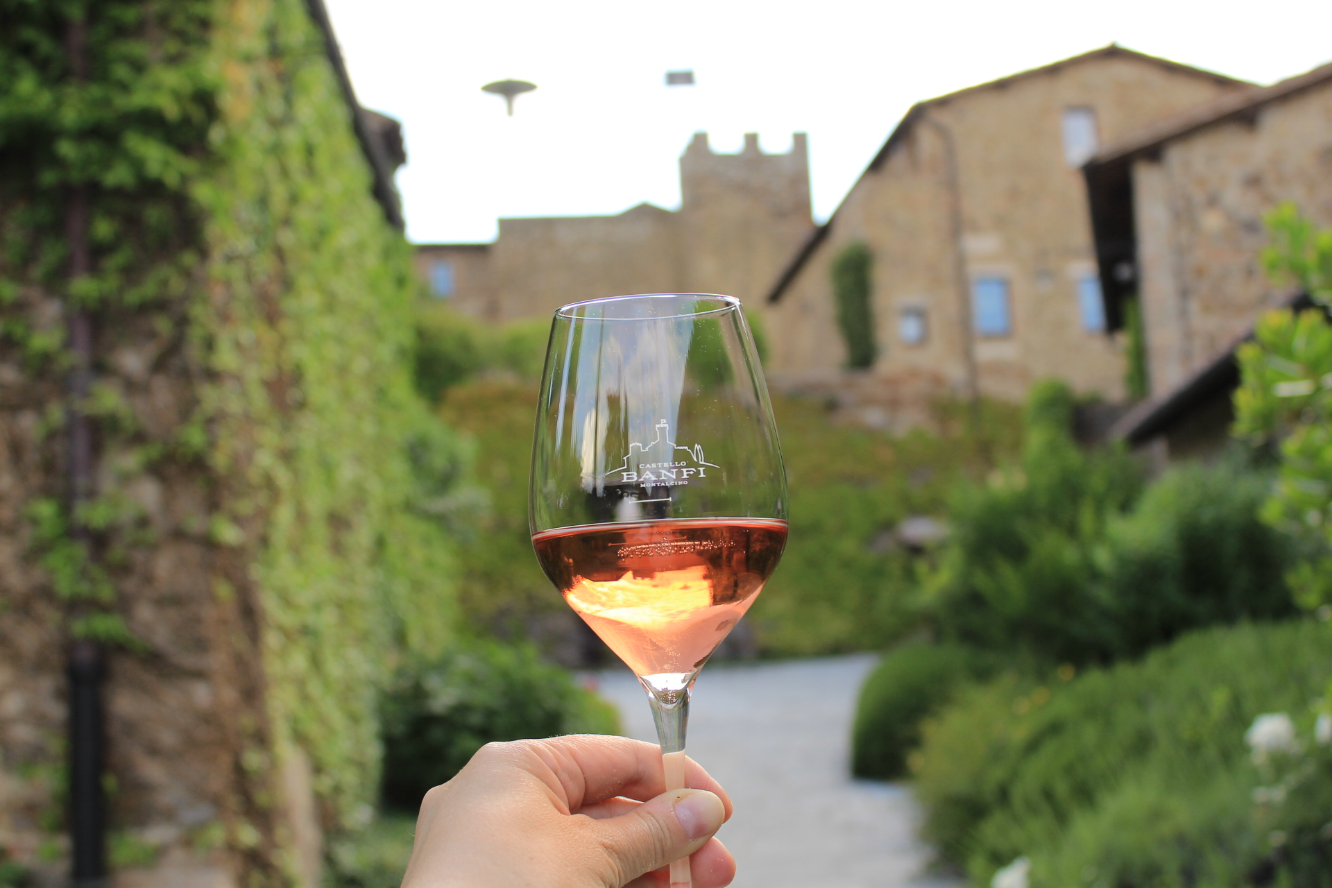 Pink castle: tasting rosè at Banfi castle in Montalcino