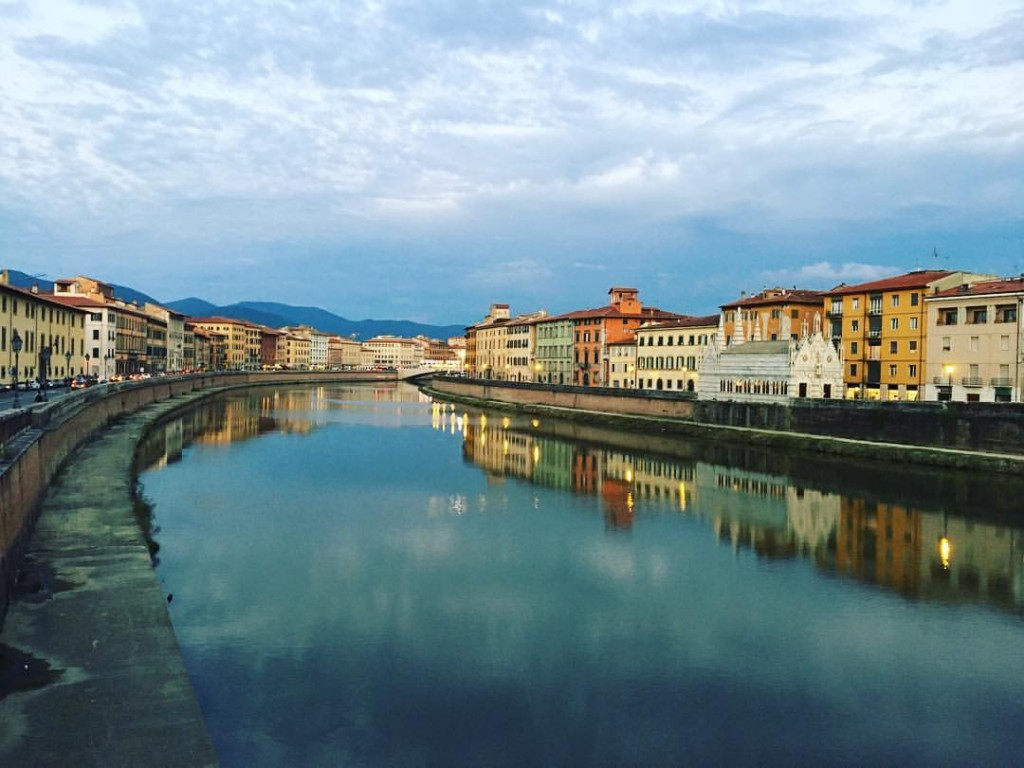The Arno river in Pisa [Photo credits: Toscana Firenze 2016 official Facebook Page]