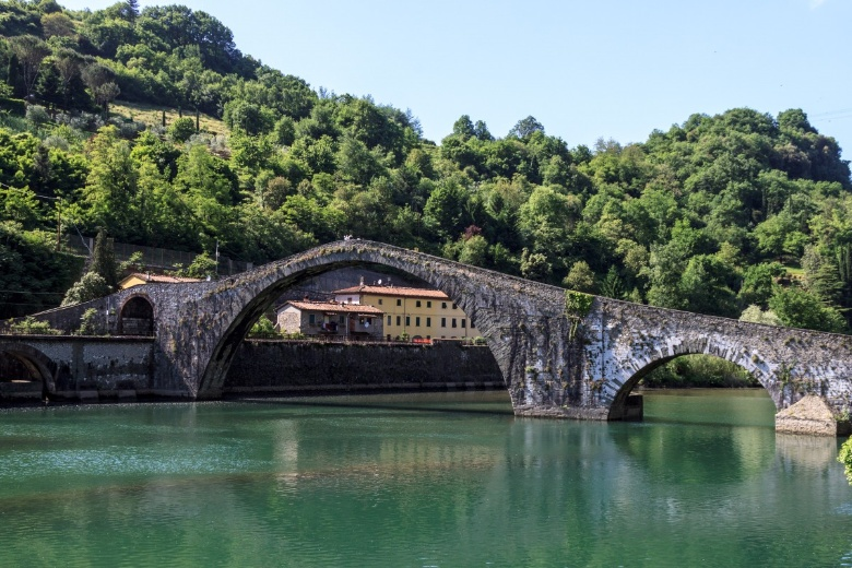 The legendary Devil's Bridge in Borgo a Mozzano
