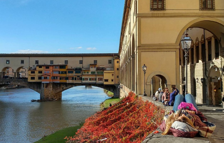 The Ponte Vecchio and the Vasari Corridor in Florence