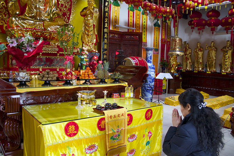 A Buddist prayer - The Chinese New Year in Prato