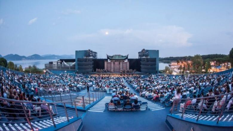 The open air theatre in Torre del Lago, Viareggio area
