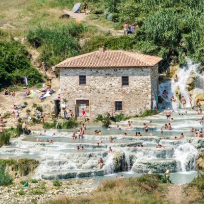 Saturnia hot springs detail