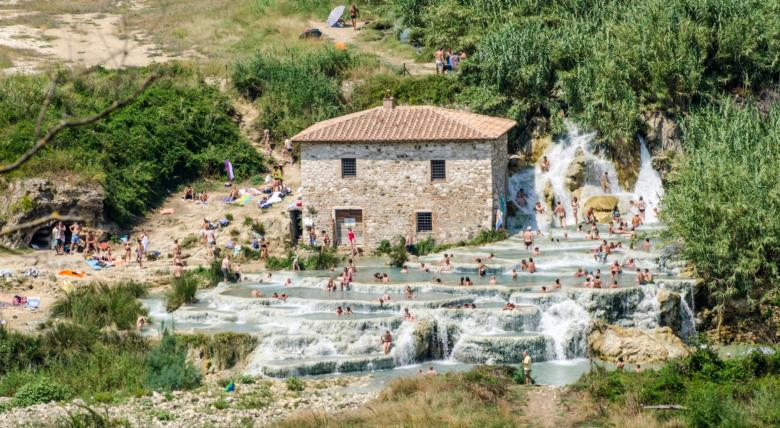 Saturnia hot springs panoramic