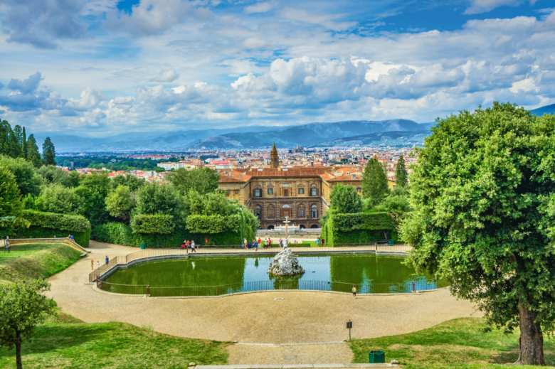 Palazzo Pitti from the Bobble Gardens in Florence
