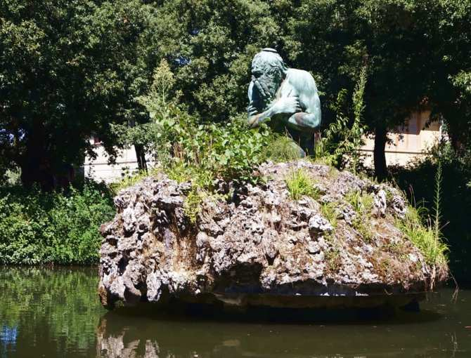 Sculpture in the park at Villa Reale di Castello, Florence