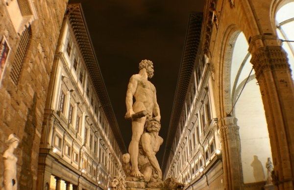 Ercole & Caco sculpture and Uffizi