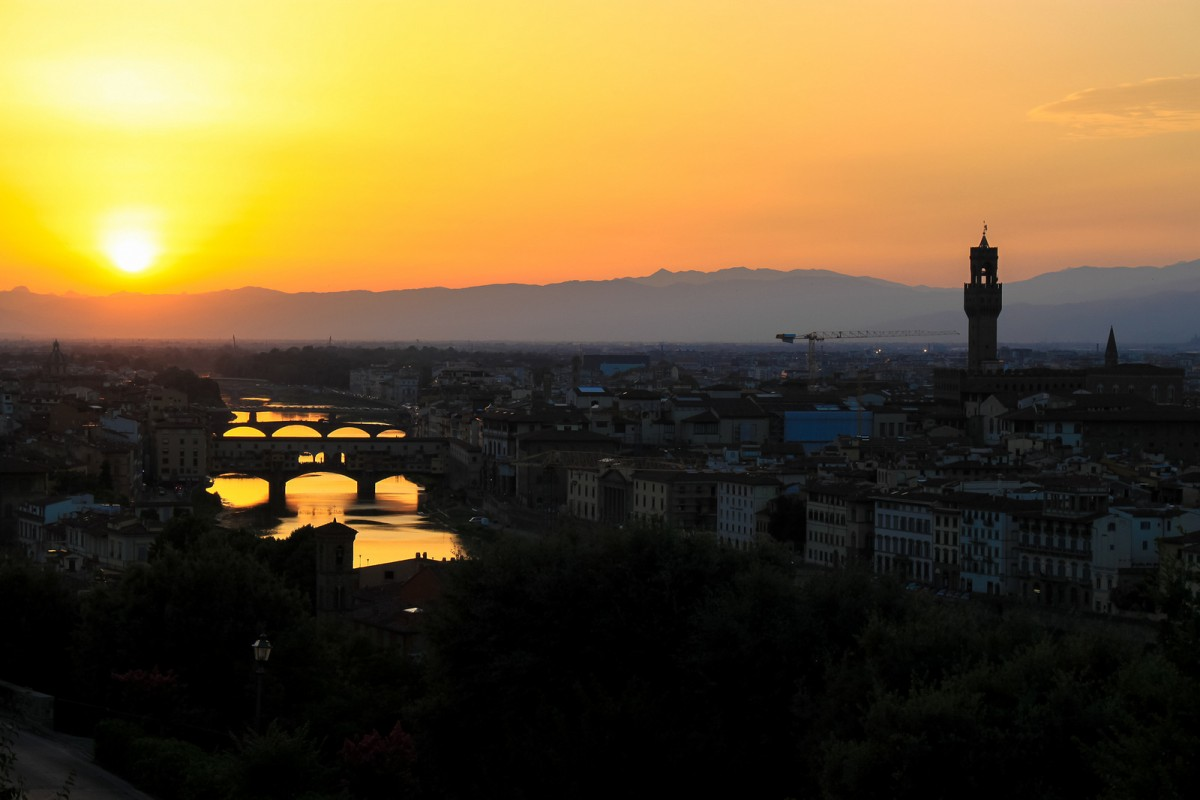 Sunset from Piazzale Michelangelo [Photo Credits: Andy Hay]