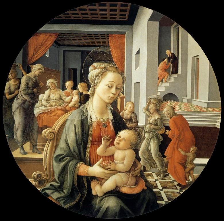 The Bartolini Tondo by Filippo Lippi