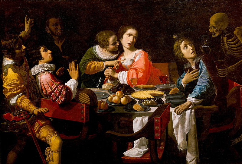 Death comes to the Banquet Table, Giovanni Martinelli, 1631