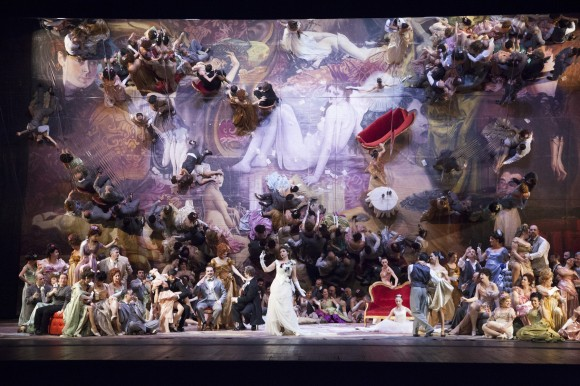 The staging of La Traviata at the Florence Opera [Photo credit: Simone Donati - TerraProject - Contrasto from the Opera di Firenze Official Facebook page]