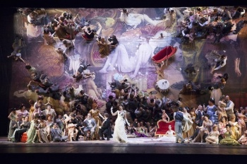 The staging of La Traviata at the Florence Opera