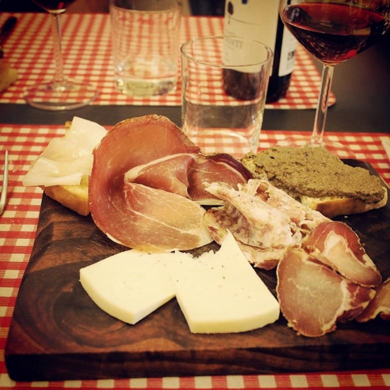 Tuscan antipasto at Cacio Divino restaurant