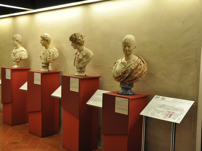 Uffizi touch tour: an art route for visually impaired at Uffizi museum, in Florence