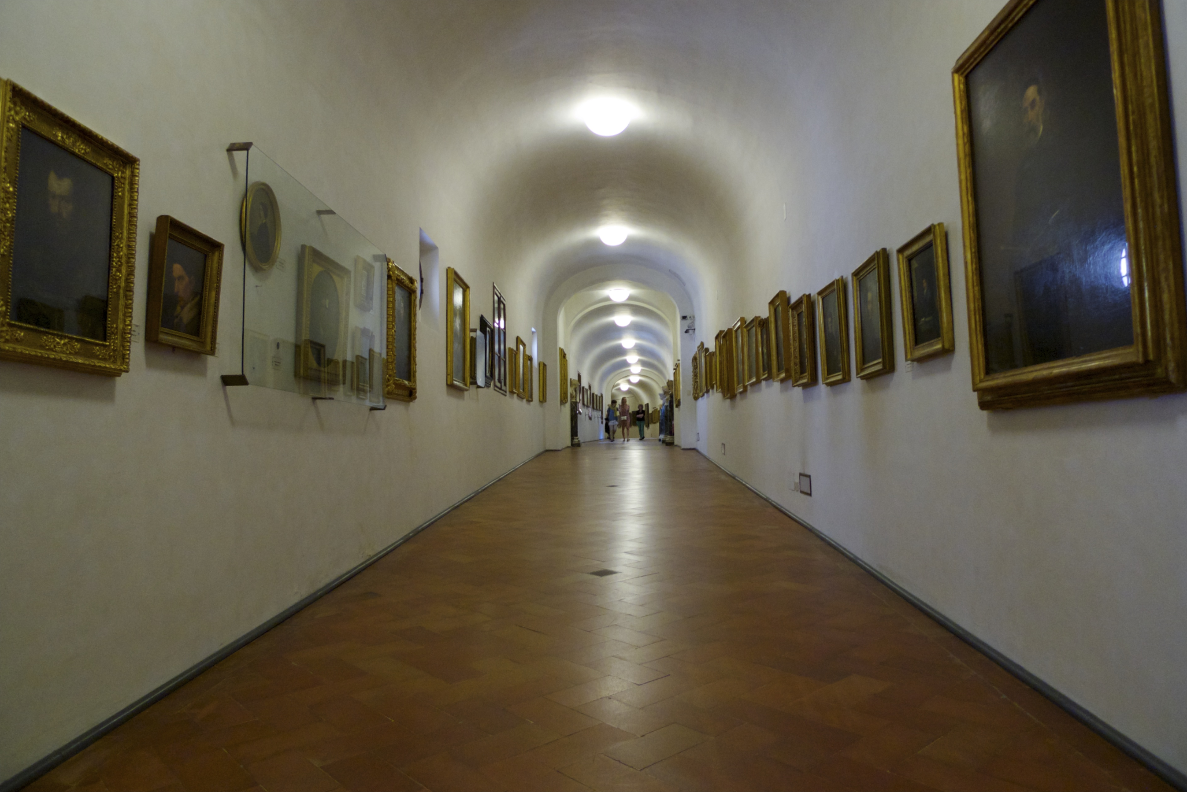 Inside the Vasari corridor [Photo credit: Darren & Brad on Flickr]