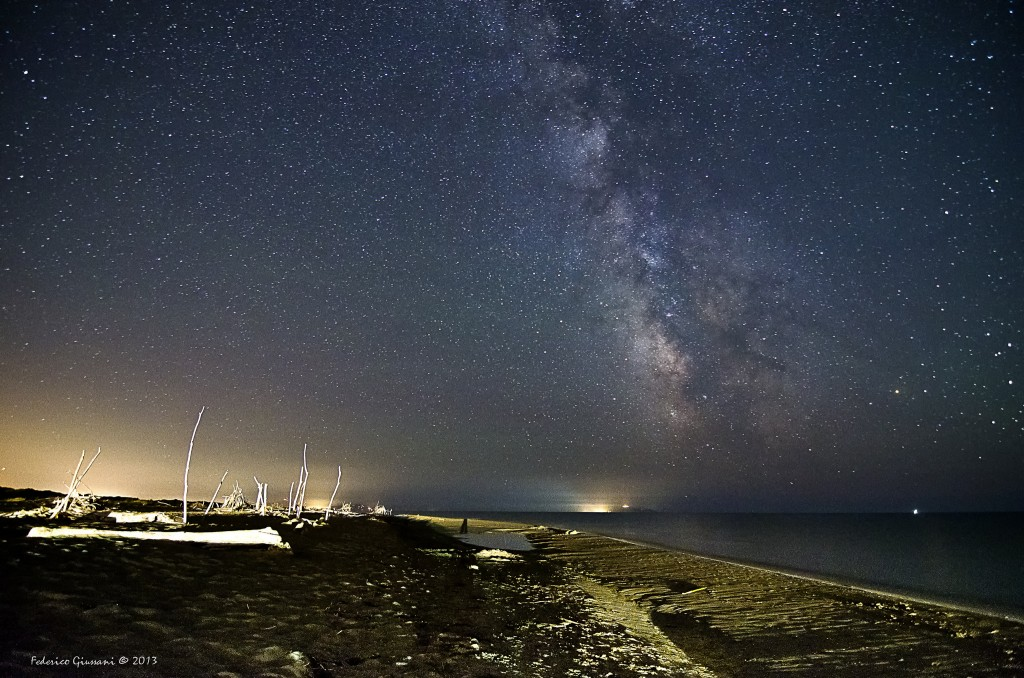 The Milky Way in Principina a Mare #Maremma [Photo credits: Federico Giussani]