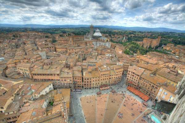 The view from the Torre del Mangia in Siena
