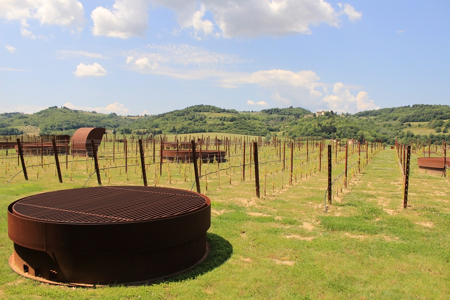 The view from Antinori winery
