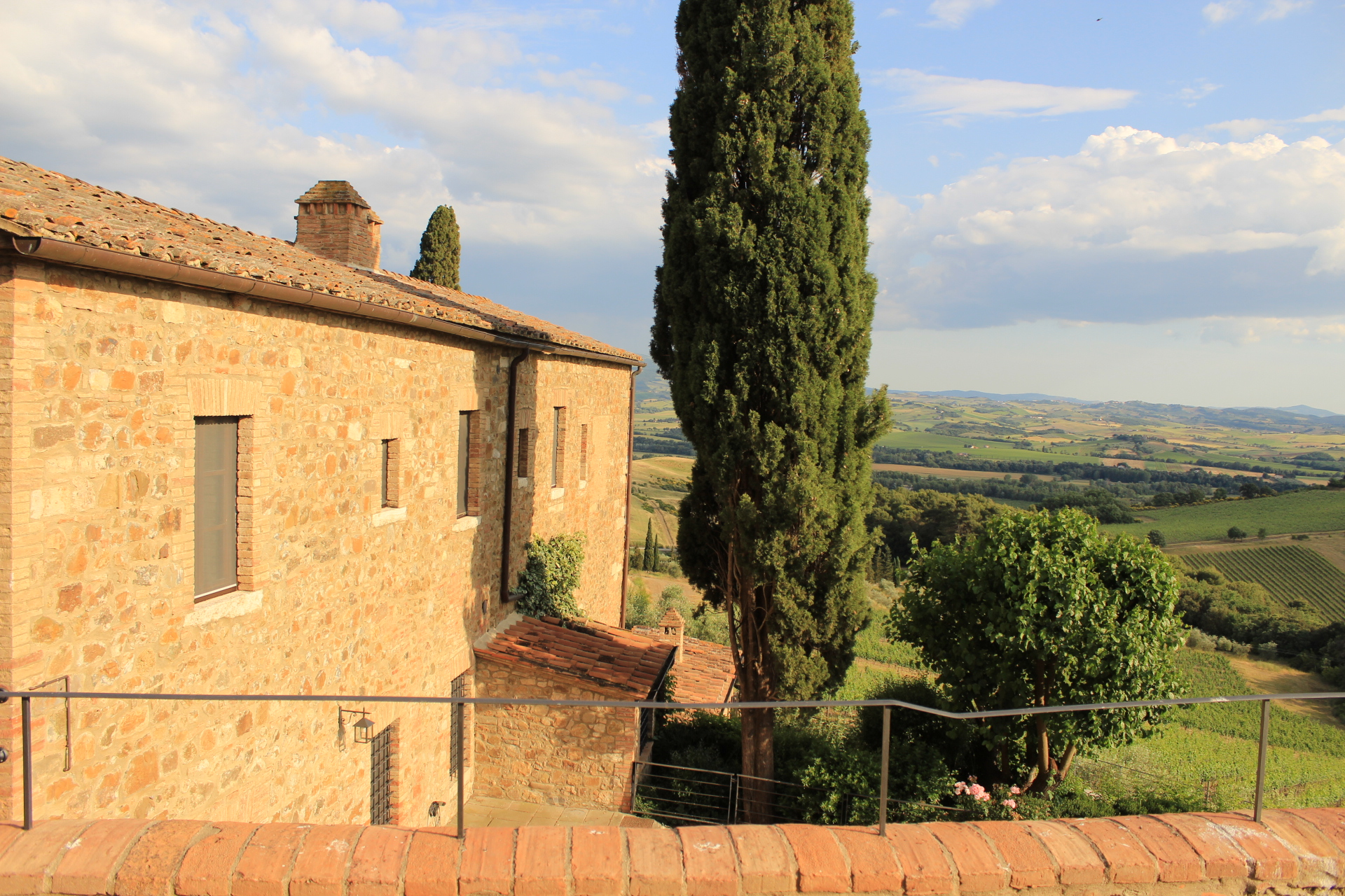 The view from Castello Banfi