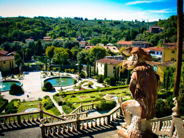 The view from the highest end of Villa Garzoni in Collodi
