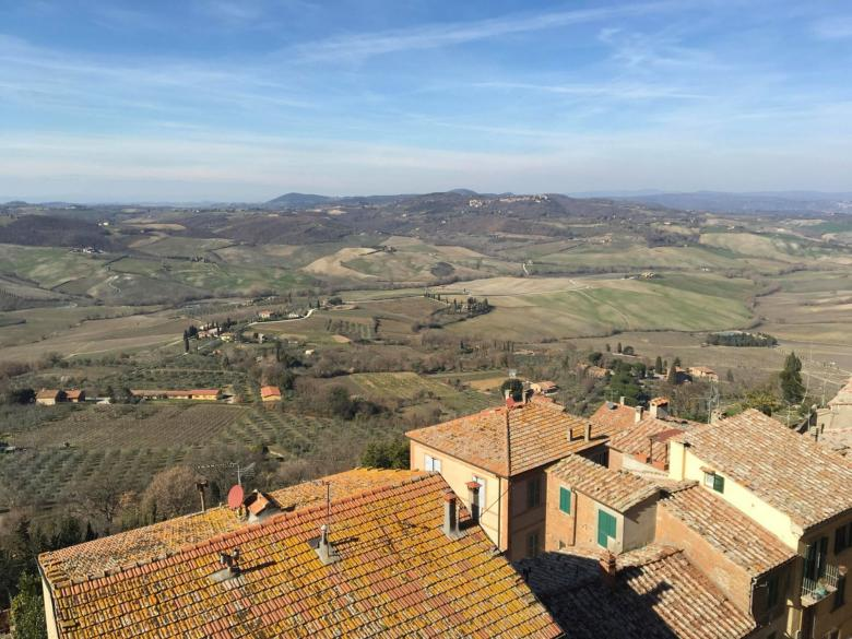 View of the Valdichiana from Montepulciano