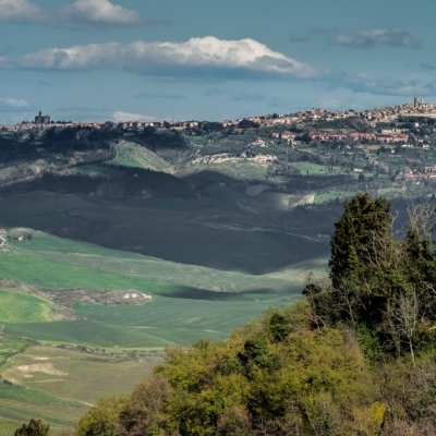 Volterra (in the distance) and its countryside