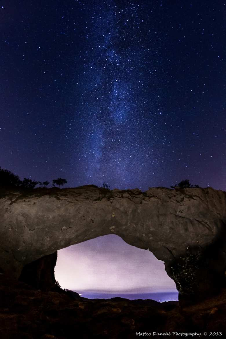 Monte Forato  and the Milky way